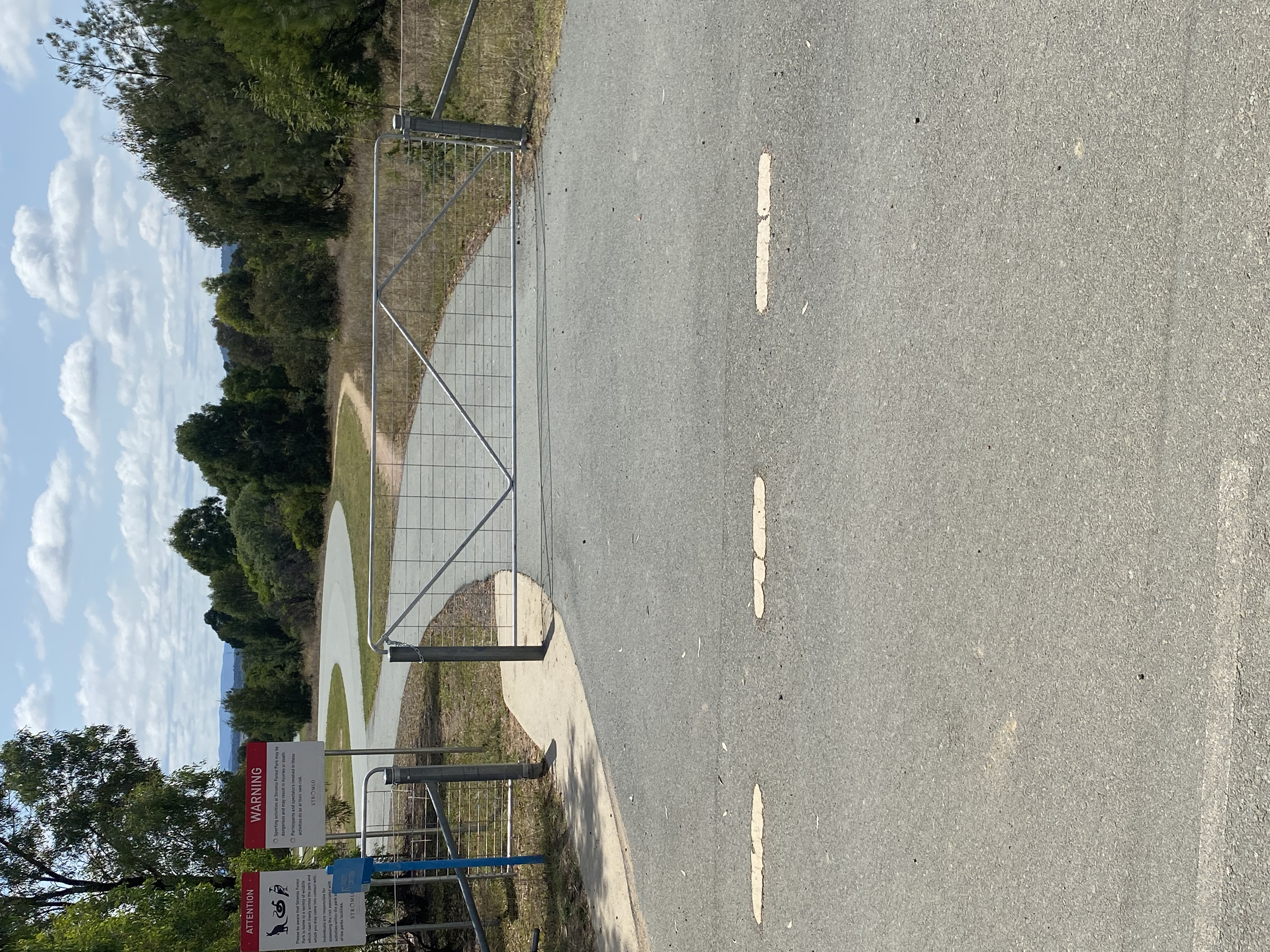 New gate at Stromlo