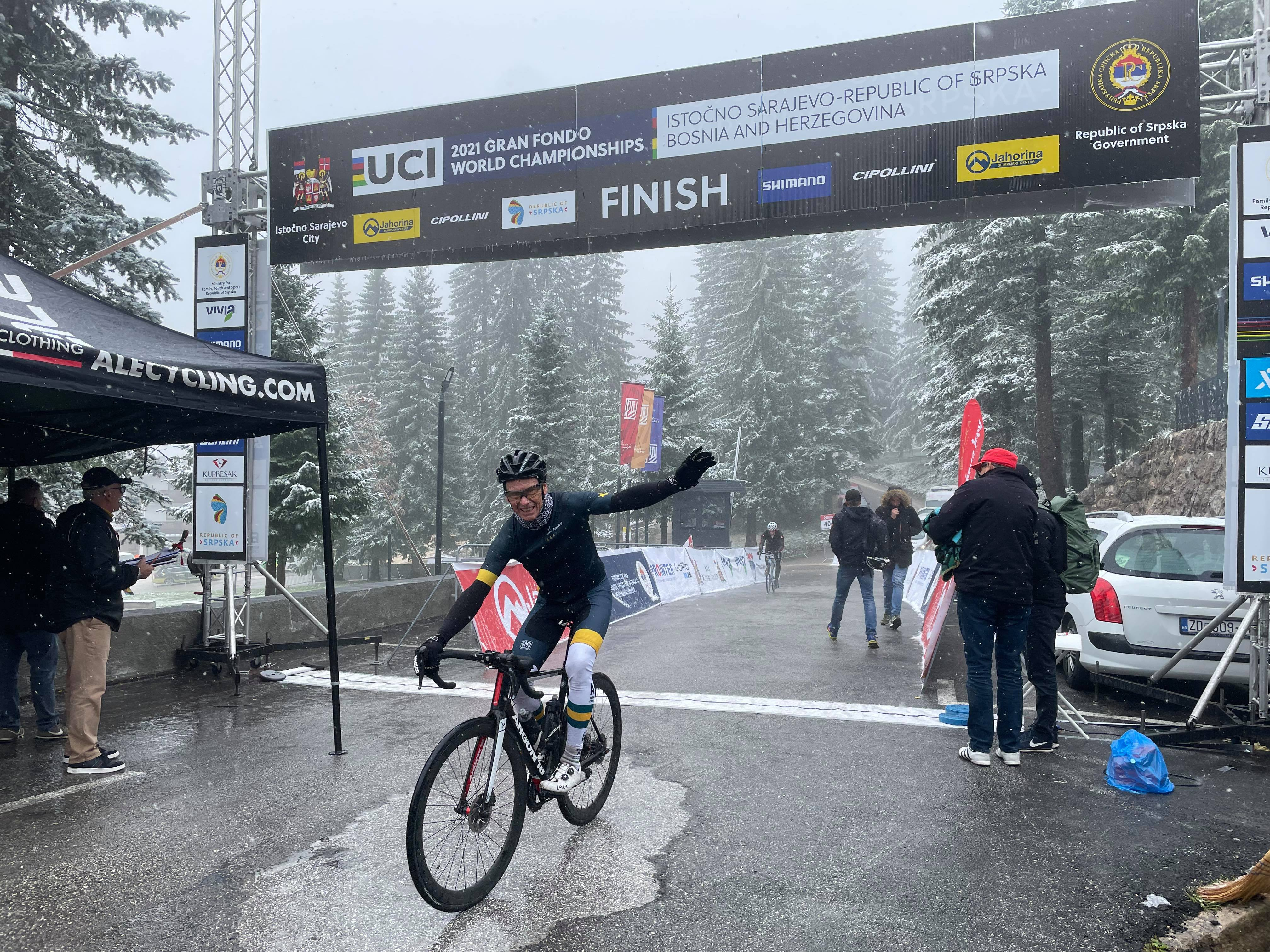 Roger Cull at the 2021 UCI Gran Fondo World Championships in Bosnia and Herzegovina