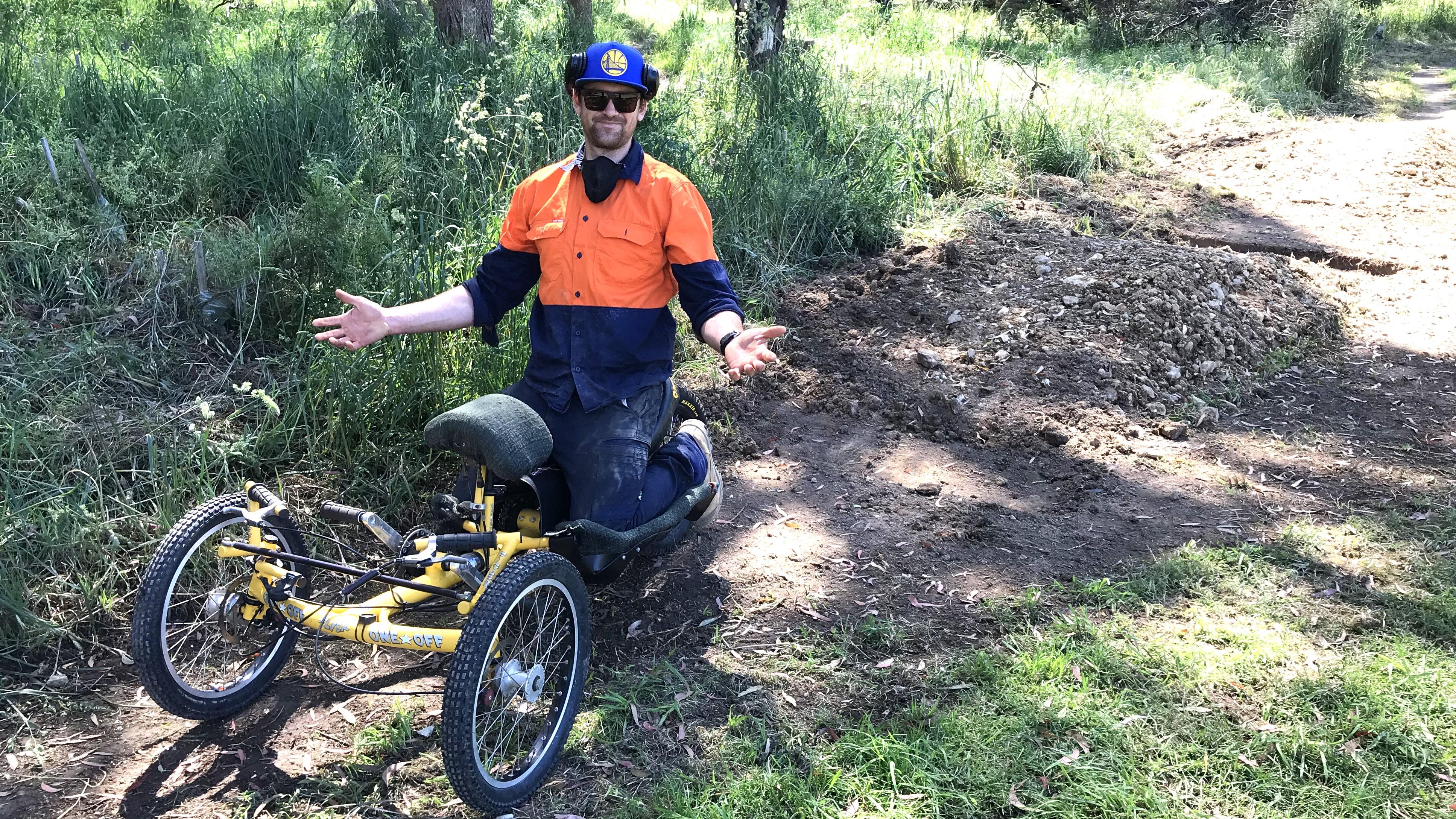 Trail Builder On Adaptive Bike